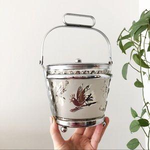 Silver Bird Mid Century Modern Bird Ice Bucket
